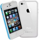 DECORO BRAND PREMIUM TPU BUMPER - IPHONE 4, IPHONE 4S - BLUE AND WHITE