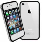 DECORO BRAND PREMIUM TPU BUMPER - IPHONE 4, IPHONE 4S - CLEAR AND BLACK
