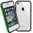 DECORO BRAND PREMIUM TPU BUMPER - IPHONE 4, IPHONE 4S - GREEN AND BLACK