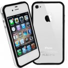 DECORO BRAND PREMIUM TPU BUMPER - IPHONE 4, IPHONE 4S - WHITE AND BLACK