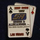 Vintage 1997 Shot Show Las Vegas SA Smith & Alexander Hat Lapel Tie Tack Tac Badge Gun Pin