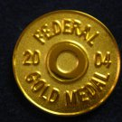 Federal 2004 Gold Medal Hat Lapel Tie Tack Tac Badge Gun Pin