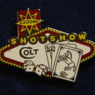 Colt Shot Show 2004 Las Vegas Hat Lapel Tie Tack Tac Badge Gun Pin