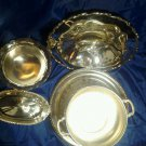 Vintage Beauiful mixed 16 piece Silverplated Dinnerware + Flatware Lot