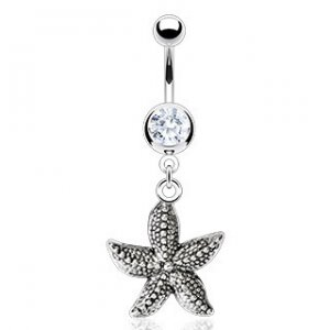 Vintage Casted Starfish Navel Ring