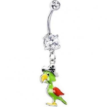 Pirate Parrot Belly Ring