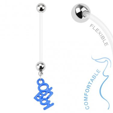 Oh Boy Dangle Bio Flex Pregnancy Navel Ring