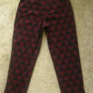 WORTHINGTON ESSENTIALS Womens Black Red Embroidered Slacks Pants Size 16 EUC
