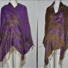 Purple Butterfly Reversable Pashmina Shawl/Wrap Free Shipping