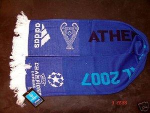 UEFA Champions League 2007 FINAL ORIGINAL SCARF BLUE