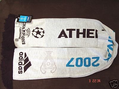 UEFA Champions League 2007 FINAL ORIGINAL SCARF WHITE