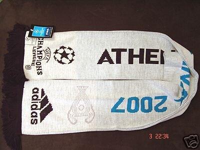 UEFA Champions League 2007 FINAL ORIGINAL SCARF WHITE