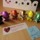 6 Gogos Crazy Bones, Series 3 Figures No 76 Gondo, laser + gold