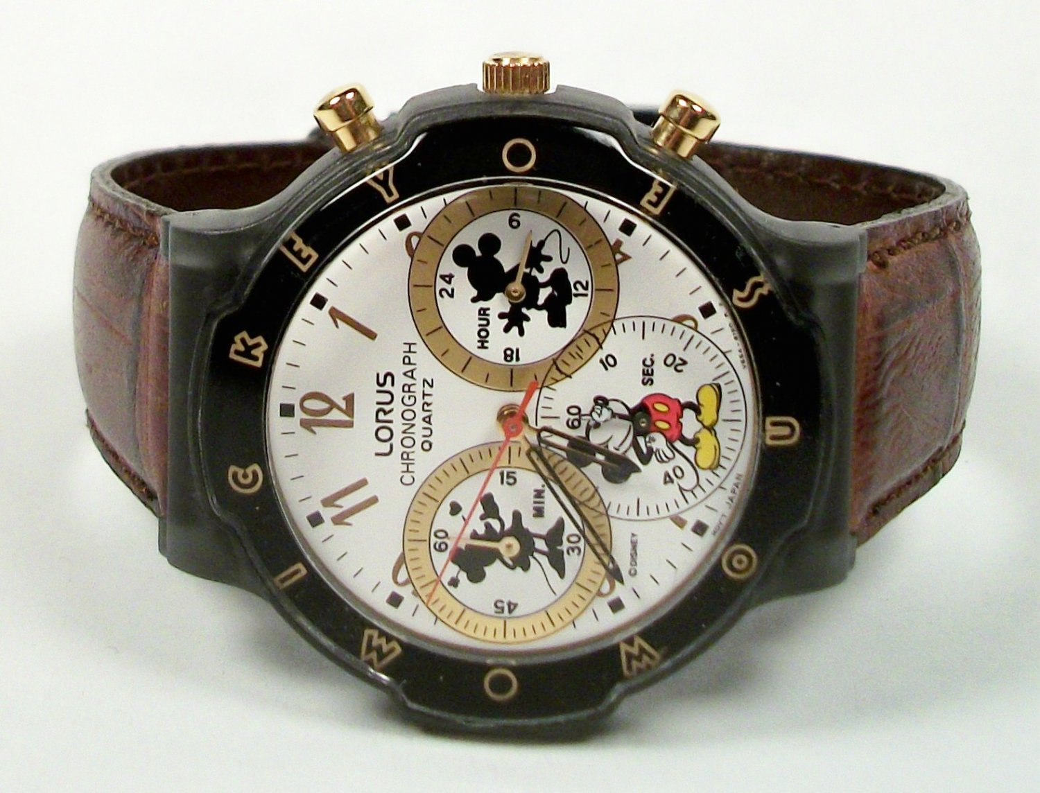 disney mens mickey mouse chronograph new