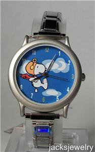 Peanuts Officially Licensed Snoopy Italian Charm Watch! New! Very Rare!