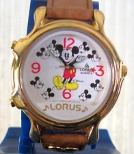 Disney Lorus Two Song Musical Mickey Mouse Watch! ~New~ Hard To Find!