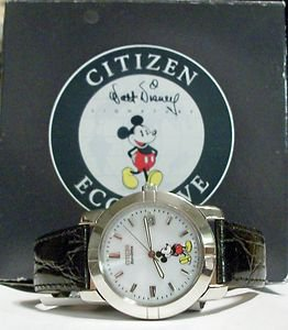 New Disney Eco-Drive Mens Citizen Mickey Mouse Watch! HTF! Gorgeous!