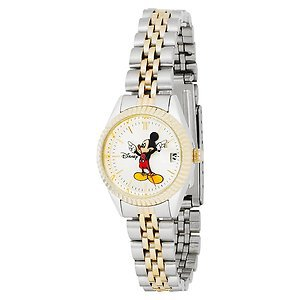 Disney Date Ladies Mickey Mouse Watch! Gorgeous! With Date! New! HTF!