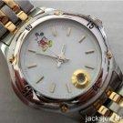 Disney Stunning Gold Silver Disney Catalog Mens Mickey Mouse Watch! New!