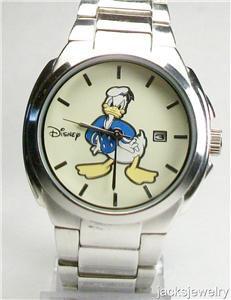Disney Calendar Mens Donald Duck Watch! New Gorgeous!