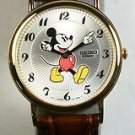 Disney Mint! MENS SEIKO Mickey Mouse Watch! HTF Free Gift & Watch!