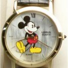 Disney New Stunning Mother of Pearl Mens Mickey Mouse Watch! By Lorus! HTF