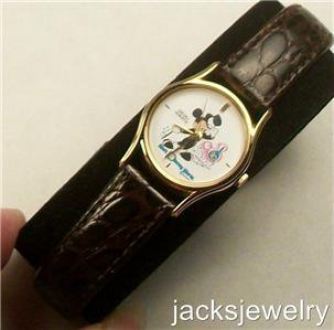Disney Stunning Gold Top Hat Ladies Seiko Mickey Mouse Watch! New! HTF!