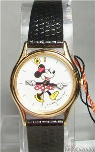 Disney New Stunning Ladies Seiko Minnie Mouse Watch! HTF!