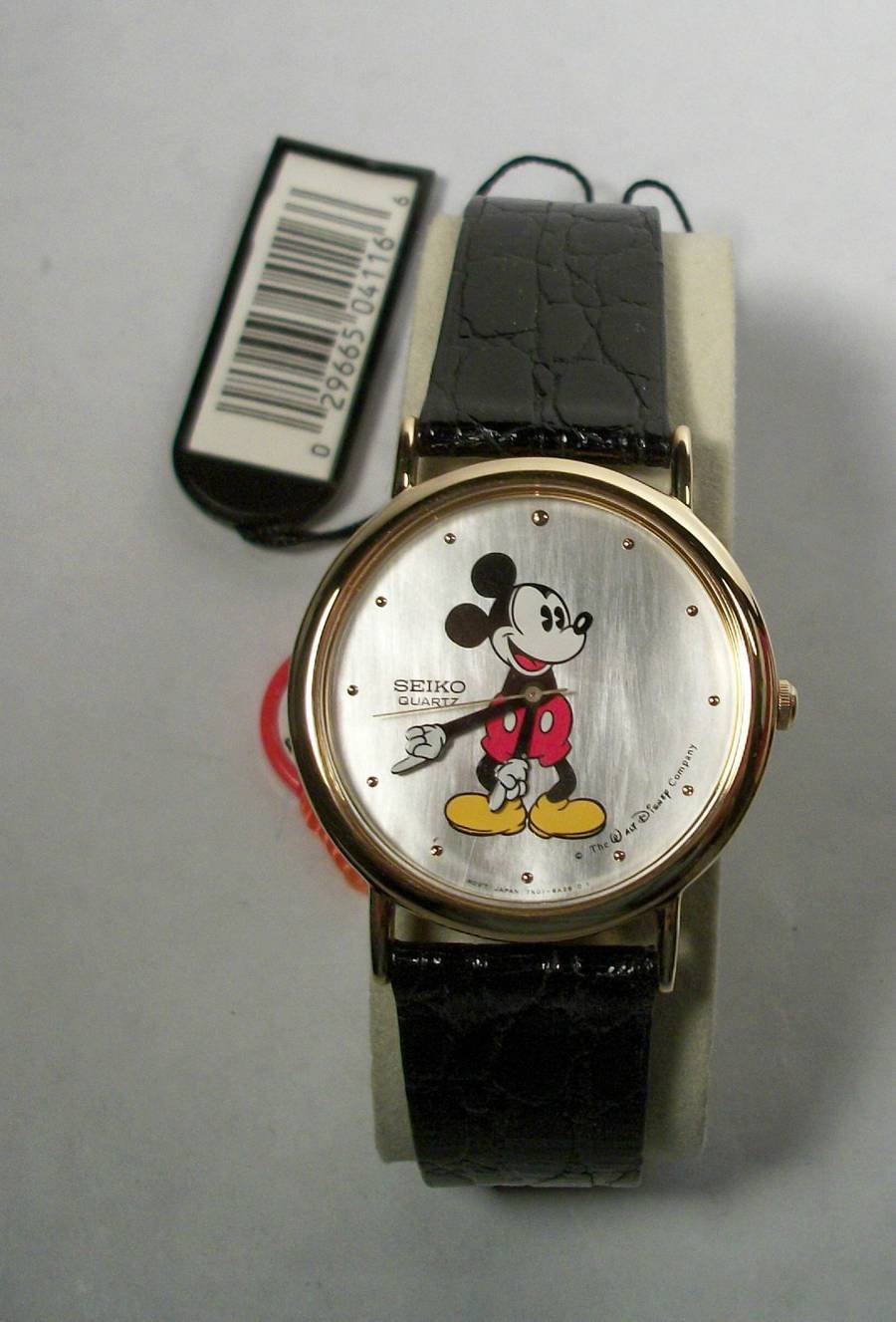 Brand-New Disney MOTHER OF PEARL Seiko Mens Mickey Mouse Watch HTF! Stunning!