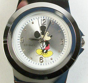 Disney Mickey Mouse Watch! New! HTF! Stunning Silver Band!