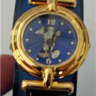 Disney Stunning Gold Mickey Mouse Watch! New! Stunning Blue Dial!