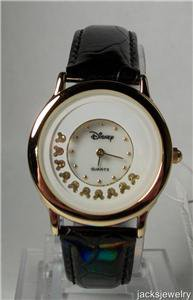 Disney Stunning Pearlesque dial with Revolving Mickey Mouse Icon Watch! New!
