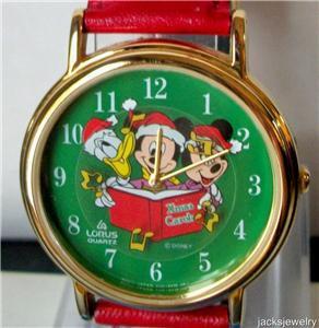 Disney Stunning Mickey Mouse Christmas Watch! New!