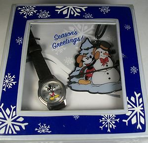 Disney New Ladies Mickey Mouse Watch! + Ornament & Free Gifts!