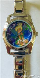 Disney Stunning Tinkerbell Italian Charm Watch! New!