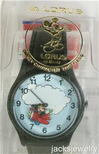 Disney Animated Flying Lorus Mickey Mouse Watch! New! Hard To Find!