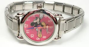 New Disney Mickey Mouse Italian Charm Watch! Free Gift and Watch!
