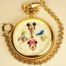 Disney New Very Rare Mickey Mouse Pocket Watch! With Friends on the Dial! Wow!