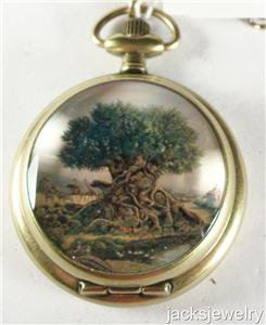 Disney New Limited Edition Animal Kingdom Pocket Watch! Stunning! Hard To Find!