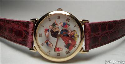 New Disney Rare Animated Limited Edition Snow White Watch! HTF! Dwarves Move!