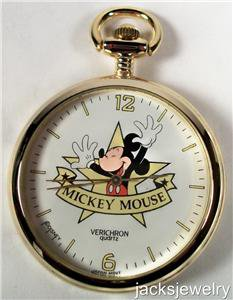 New Disney Mickey Mouse Pocket Watch! Hard To Find!