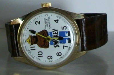 Bradley Smokey the Bear Watch! Wind-Up! Keeping Perfect Time! Wow!