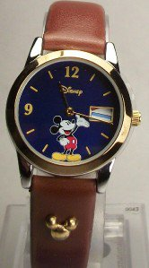 New Disney Flags of the World Mickey Mouse Watch! Hard To Find!