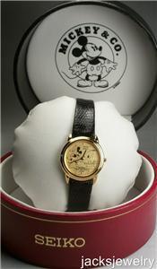 Disney Brand-new Thru the Mirror Ladies Seiko Mickey Mouse Watch! Mint Gorgeous!