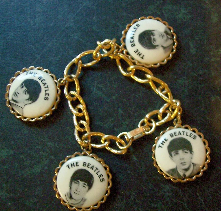 Vintage Beatles Charm Bracelet From the 60s! Great Shape! Retired! Hard To Find!