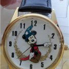 Disney New Gold Sorcerer Mickey Mouse Watch! Pts. To Time~ Hard To Find!
