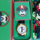 Brand-New Disney Nutcracker Christmas Mickey Mouse Watch! HTF Pts. To Time!