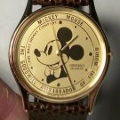 Disney Ambassador to the World Seiko Mickey Mouse Watch! New! Hard To Find!