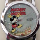 New Disney Citizen Men Mickey Mouse Watch! Original Case! HTF! Stunning!