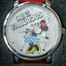 Brand-New Disney Large Dial Minnie Mouse Watch! In Collector's Tin! Large Dial!